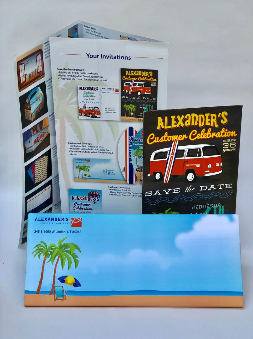 Customer Appreciation Brochure, PostCard and Invitation Envelope