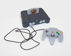 Nintendo 64 with Controller and The Legend of Zelda: Ocarina of Time