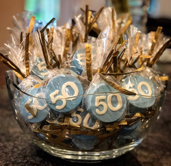 50th Birthday Chocolate Covered Oreo