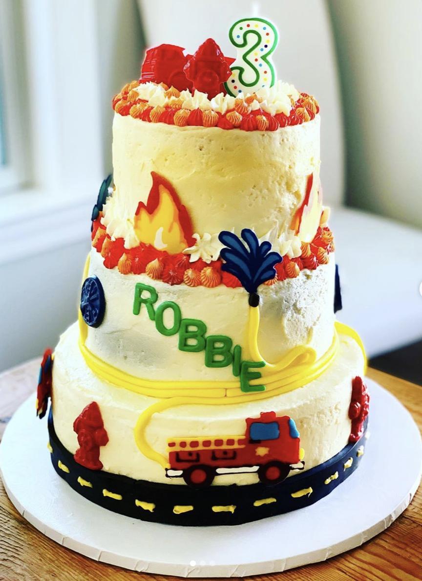 Firefighter Birthday Cake