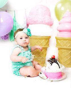 Smash Ice Cream Sundae Cake