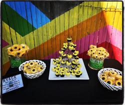 Sunflower Theme Treat Table