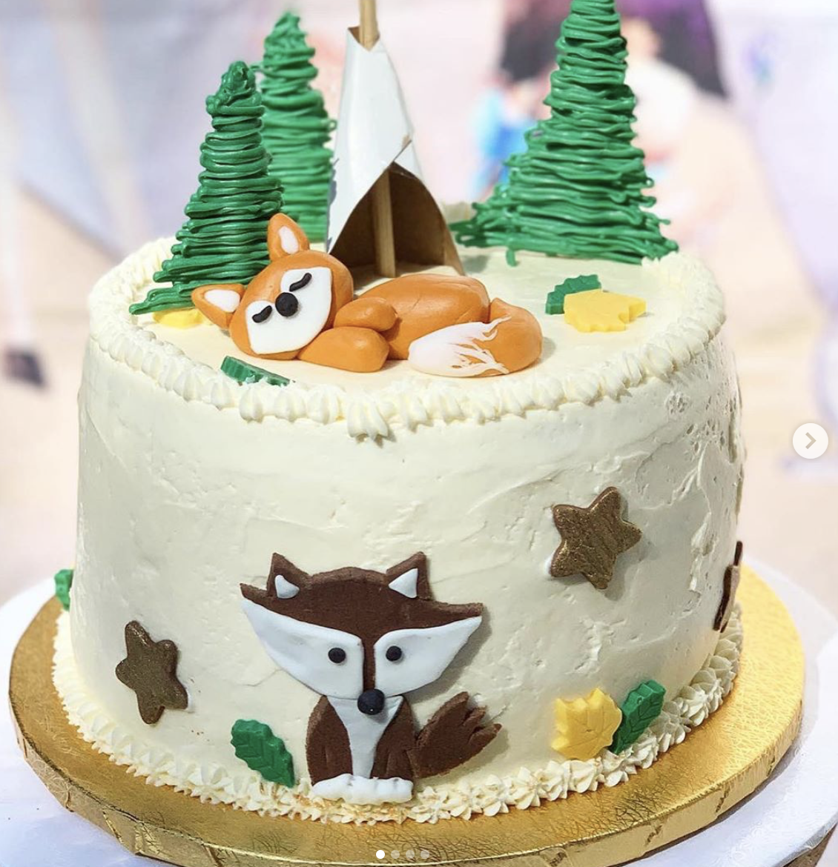 Camping Fox Cake