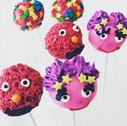 Elmo & Abby Cake Pops