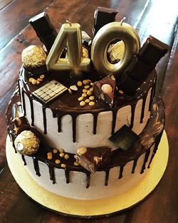 40th Chocolate Hazelnut Cake