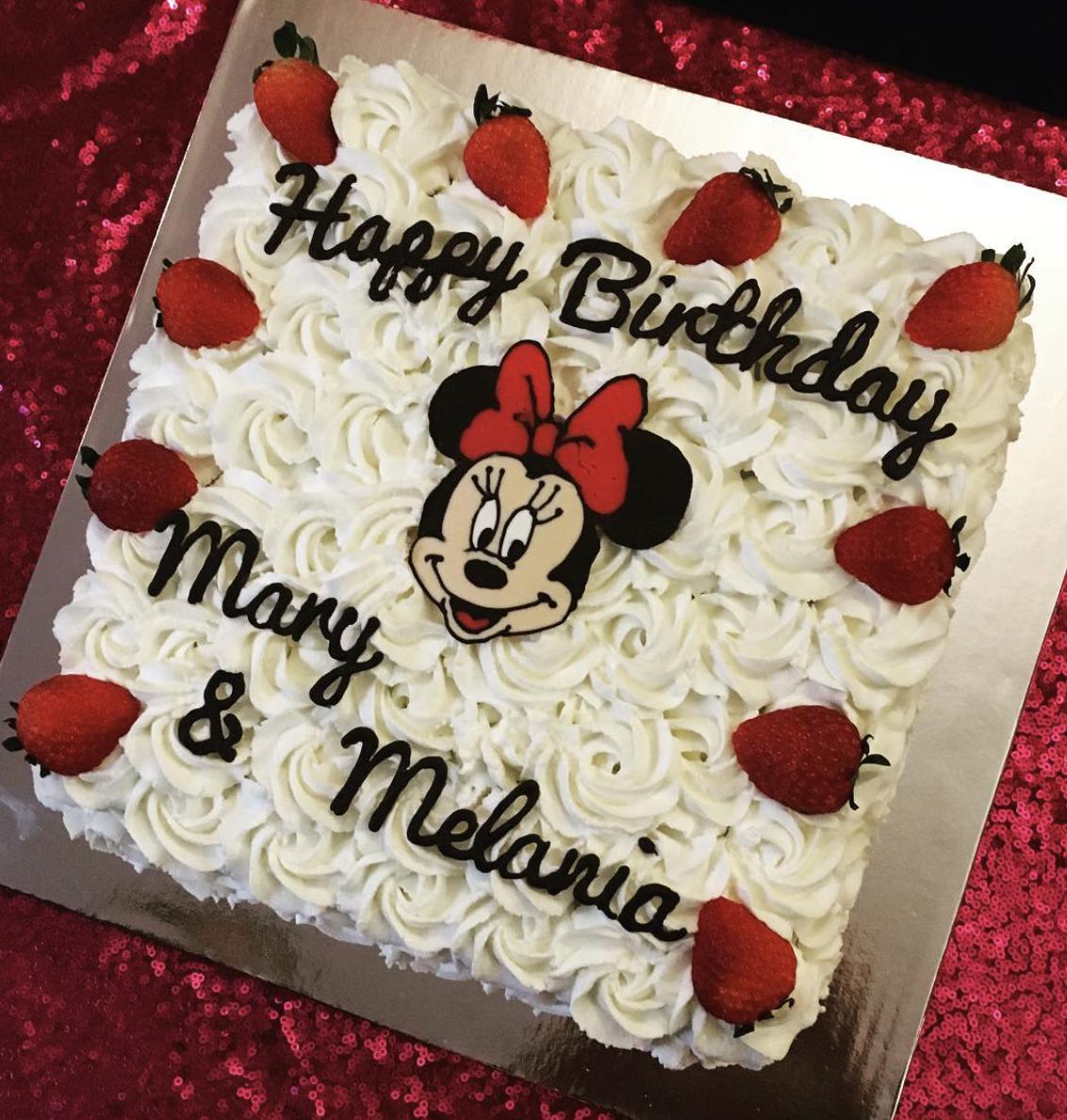 Minnie Mouse Strawberry Cake