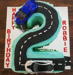 2 Car Cake
