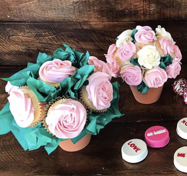 Rose cupcake bouquets