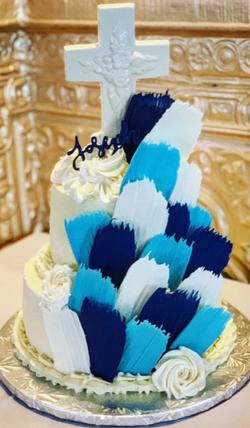 Communion Brushstroke Cake