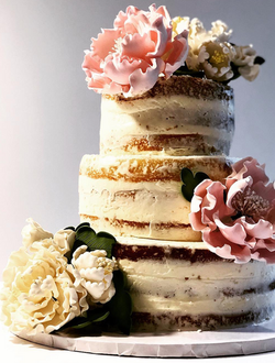 Naked Cake with Sugar Flowers