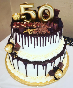 50th Candy Bar Cake