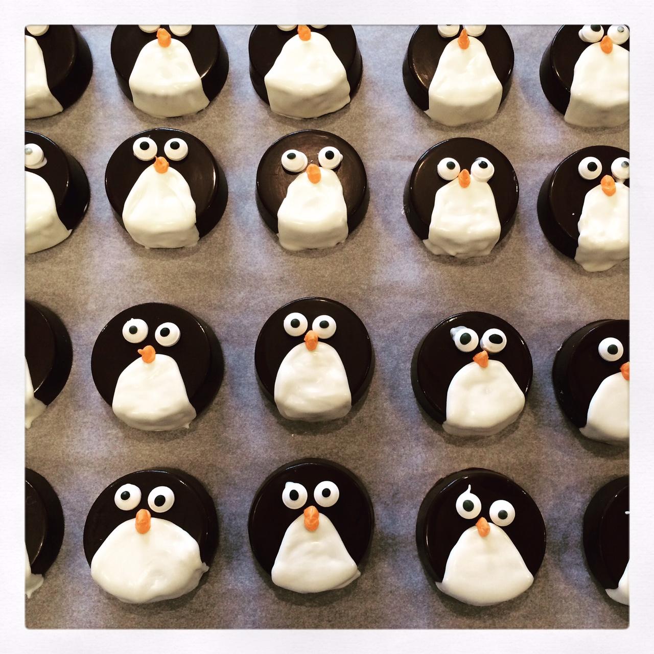 Penguin Chocolate Covered Oreos