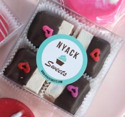 Chocolate dipped nougat