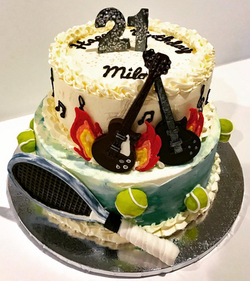 Tennis and Rock & Roll Cake