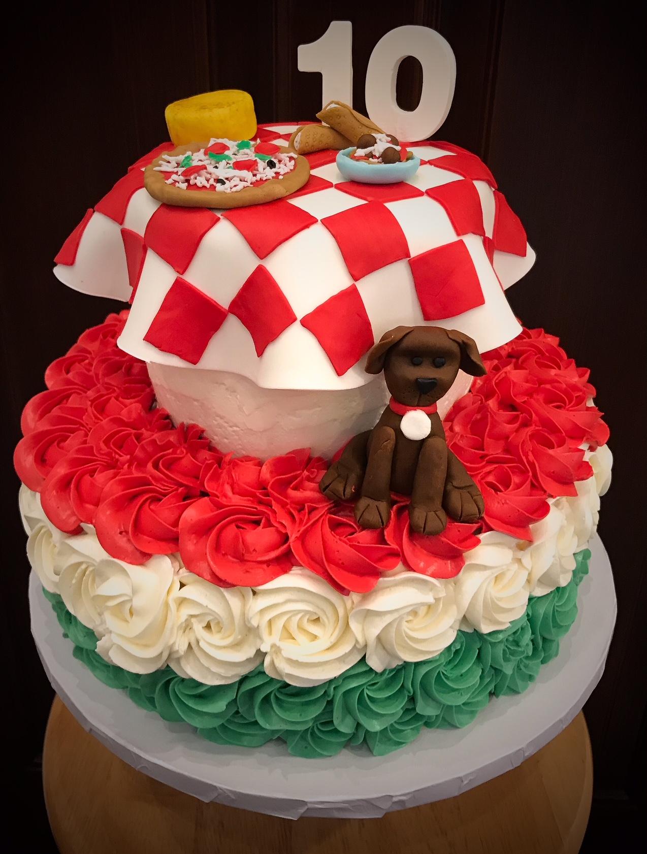 Italy Theme Cake