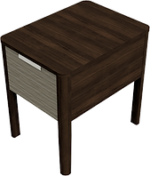 End Table With Drawer 18W x 24D x 24H -
