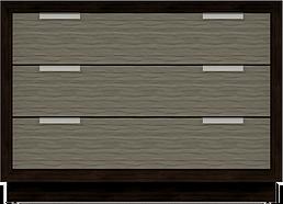 3-Drawer Inset 42W x 20D x 30H - Columbi