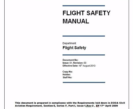 Aviation Regulatory Document