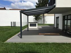 Terrassendach HEATSTOP® Wandanbau