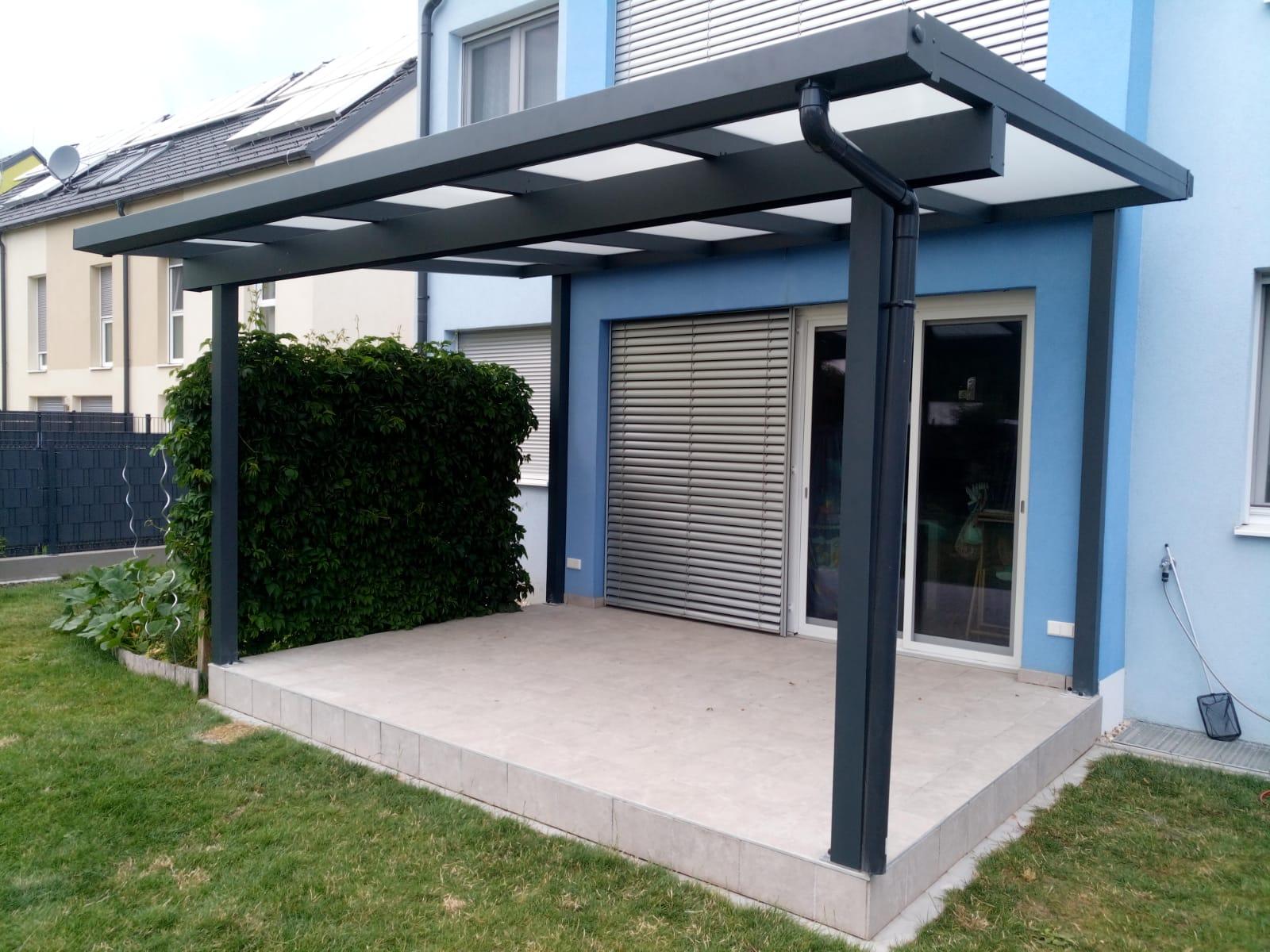 Terrassendach HEATSTOP® mit Dachüberstand