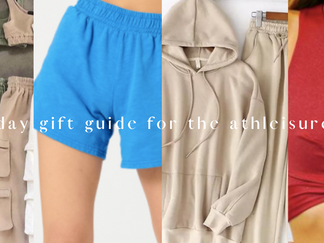 Holiday gift guide for the athleisure-er (ft. small businesses)
