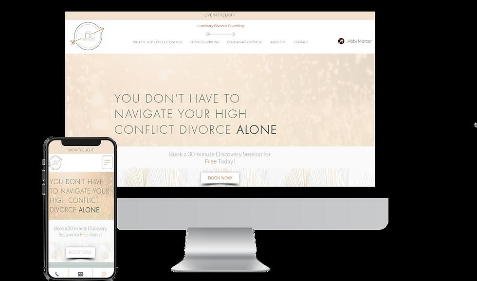 Website Design for Luminary Divorce Coaching
