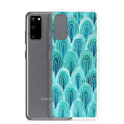 Blue Hue Patterned Samsung Case