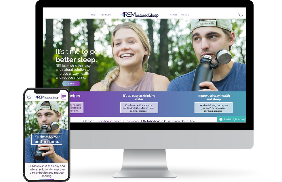 Website design for REMastered Sleep.