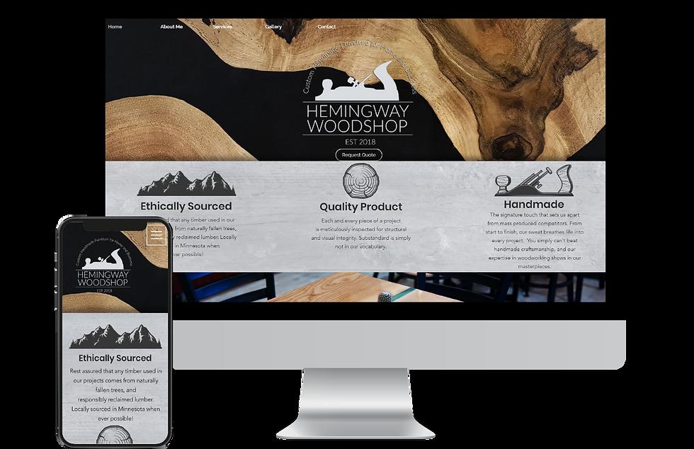 Website Design for Hemingway woodshop.