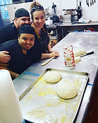 The team making bread!