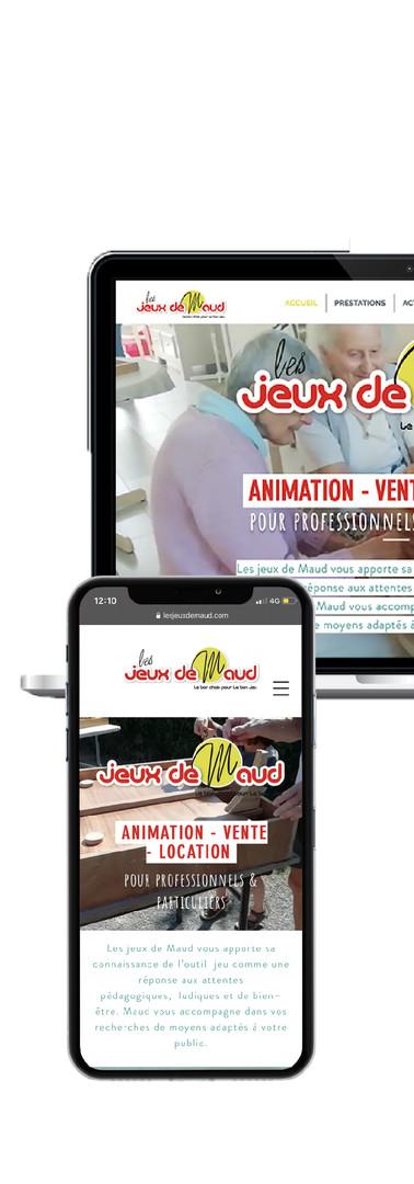 Site & adaptation mobile l Les Jeux de Maud