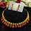 Thumbnail: ABA - Red and golden necklace Set