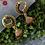 Thumbnail: ABA – Peacock Shaped Stone Studded Jhumkas