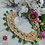 Thumbnail: ABA - Kundan Studded Green and Gold Matte Finish Necklace Set with Earrings