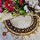 Thumbnail: ABA - Kundan Studded Black and Gold Matte finish Necklace Set with Earrings