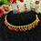 Thumbnail: ABA - Wine Red and golden necklace Set
