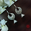 Thumbnail: ABA - Oxidized Fan Shaped Hanging Earrings