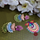 Thumbnail: ABA – Three-layer Multicolored Peacock Danglers