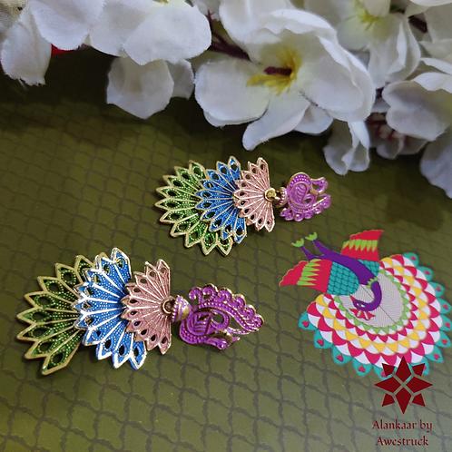 ABA – Three-layer Multicolored Peacock Danglers