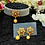 Thumbnail: ABA - Grey Gold Choker Necklace with Stud Earrings