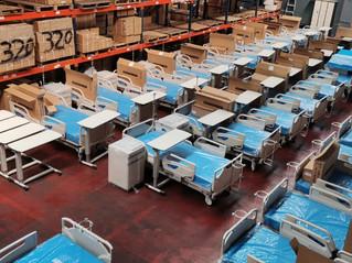 Llegaron 44 camas de hospital donadas por el Gobierno del Japón para la atención del COVID-19
