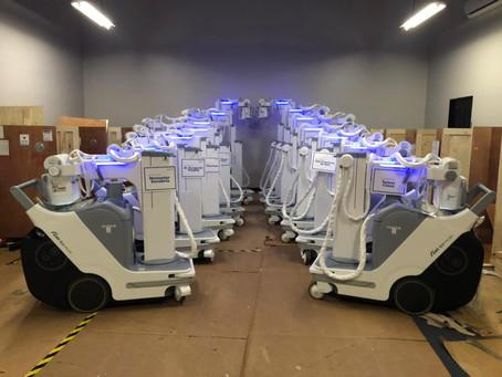 Llegaron 14 equipos de rayos x móviles donados por el Gobierno de Japón para atender el COVID-19