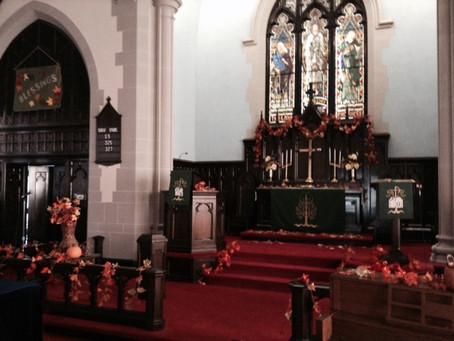 Indoor worship service changes.