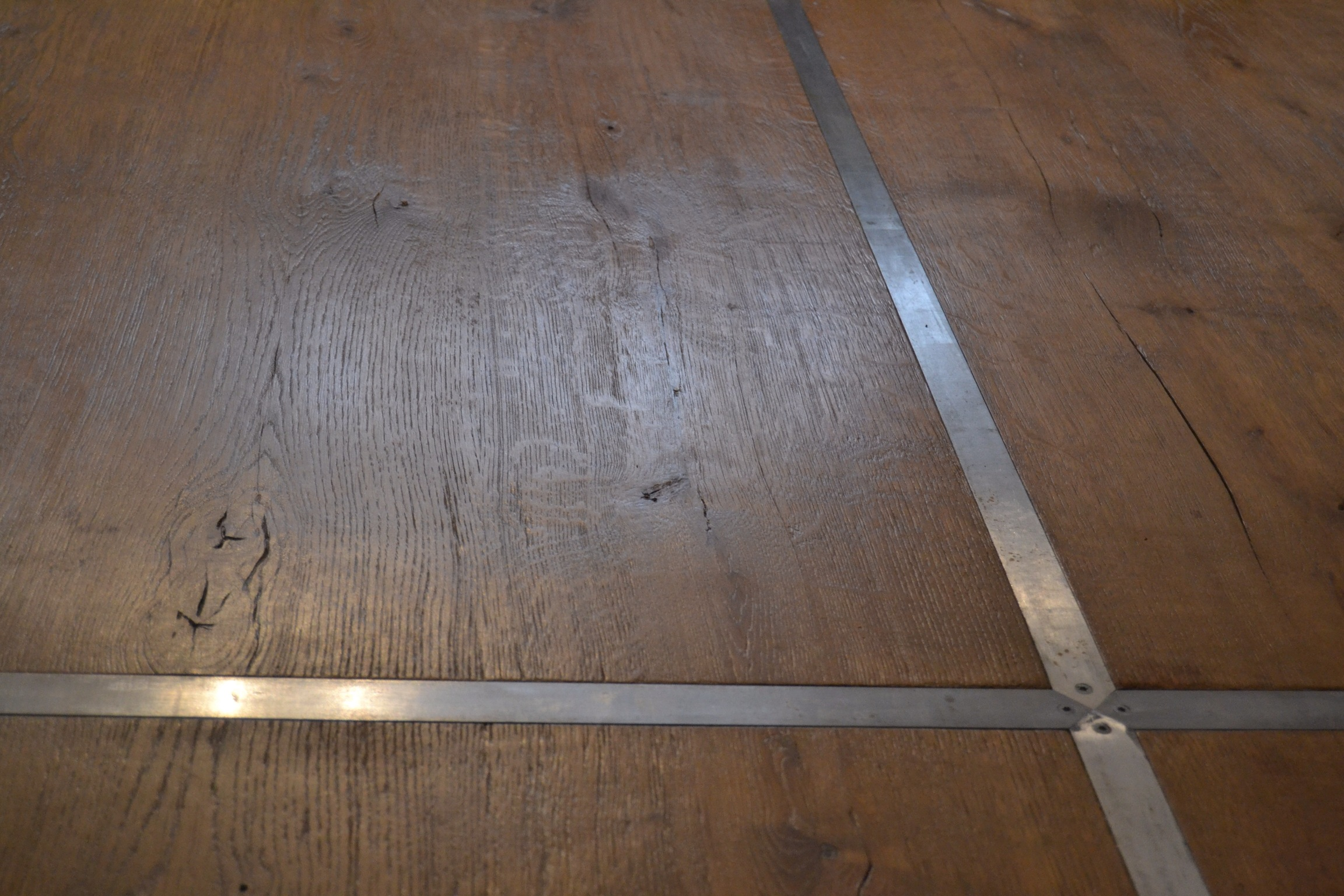Table chêne massif métal 4m
