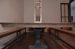 Table design chêne massif métal