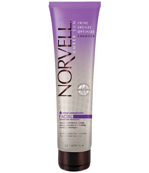 Clear complexion facial tanner