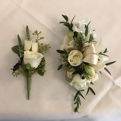 assorted boutonniere and corsage