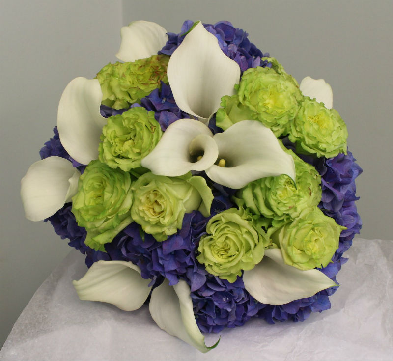 white green and purple bouquet