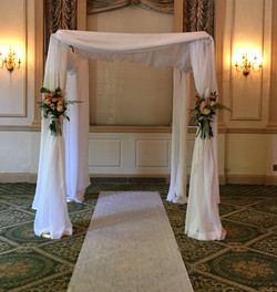 Choopa With Fabric Draping & Flowers