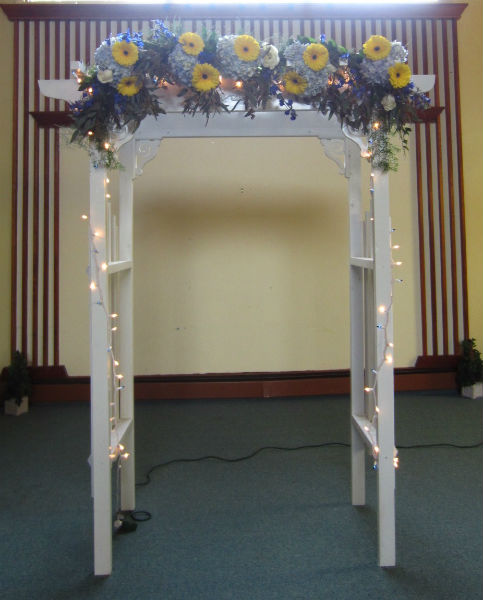 Fresh Flower Arbor Decorations